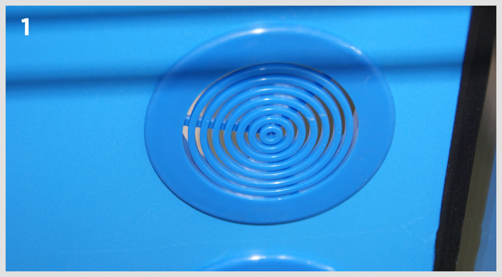 griglia di grosse dimensioni per il passaggio di un maggior flusso di acqua nel filtro